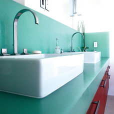 bathroom countertops BioGlass, Oriental Jade