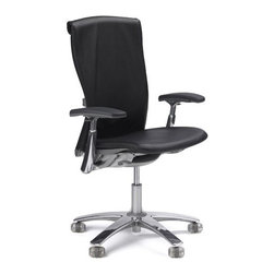 "Knoll - Life  High-Back Office Chair - Learn more about Life � High Back Office Chair below: Features at Glance • Specifications • Order with Confidence • Designer Back To Top Features at Glance *This product is made to order and thus customer orders cannot be canceled once products go into production -Design Year: 2002 -Knit mesh back suspension fabric provides contoured comfort and support. -Auto-balance tension uses weight of user to activate release and recline. -Durable plastic seat pan perforated to prevent trigger points after long periods of sitting. -Only few simple controls. -Designed to minimize negative environmental impact. -Overall dimensions: 38.5"" - 43.75"" H x 26.5"" W x 24.5"" D. -For demonstration of Life Chair's features , please see Elements of Life. Awards: -Best of NeoCon Gold Award for Seating: Desk/Workstation Task Chairs, 2002. -IIDEX for Office Seating and Sustainable Design, 2002. -Good Design Award, Chicago Athenaeum, 2003. Back To Top Order with Confidence -Sustainability Statement: Sustainable design is key component of Knoll's environmental focus. Knoll's commitment to social responsibility and healthy environment has prompted company to further articulate its longstanding environmental programs and, with encouragement and support from colleagues in industry, Knoll has re-energized its focus on such ""green"" initiatives as life cycle analysis and LEED� certification. Knoll is proud to have contributed to projects have received LEED certification from U.S. Green Building Council.. -The Life Chair is Greenguard certified. -Knoll products are guaranteed to be free from defects in materials and workmanship during applicable warranty period set forth in Knoll Warranty. -Should you discover shortly after receiving your Life Chair parts are either damaged or missing, please call us immediately, and we will be happy to send you replacement parts as soon as possible and at no additional cost. -Each authentic Knoll product includes certificate of authenticity. Please Note: product does not meet Cal 133 specifications. Stylish, ergonomic, eco-friendly, intuitive, and flexible, Knoll's Life Chair by Formway Design takes center stage in your modern home or office. With stunning array of features and colors to choose from, Life Chair is highly customizable piece you can tailor to meet your precise needs. Lightweight and comfortable, Life Chair moves with you as you change your position, even allowing 360 degree swivel rotation. few necessary controls are easy to use and can be adjusted from seated position. back and seat are designed to respond to your unique shape, supporting every movement you make. Composed of 52-64% recycled content, more than 80% of Life's components are designed to be recycled for later use, making it Green no matter what color you choose."
