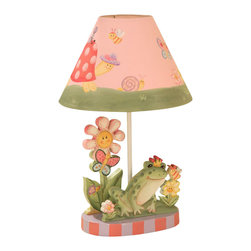 Teamson Design - Teamson Design Magic Garden Hand Painted Kids Table Lamp - Teamson Design - Table Lamps - W7488A. This is a very cute hand painted desk lamp. It is hand painted and made; it will be able to brighten up any room!