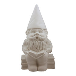 Streamline - Porcelain Gnome Lamp - Illuminate a room in a fun and festive way with this charming gnome lamp. The whimsical design looks darling next to cheery décor and brightens up your living space.   5'' W x 11'' H x 6'' D Cord: 70'' L Porcelain Requires one 40 W bulb (not included) Imported
