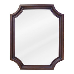 "Hardware Resources - Lyn Design MIR050 Wood Mirror - 22"" x 27"" Toffee mirror with beveled glass"