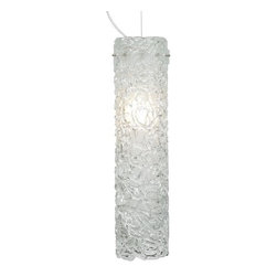 LBL Lighting - LBL Lighting Isis Clear 75W 1 Light Foyer Pendant - LBL Lighting Isis Clear 75W 1 Light Foyer PendantPainstakingly created by talented craftspeople, streams of molten Clear glass are piped into a cylinder shape to form the outer glass of this stunning pendant to give it the perfect hand crafted look that will enhance any home or business. The included 75 watt medium base incandescent bulb provides ample light through the inner frosted cylinder.LBL Lighting Isis Clear 75W Features: