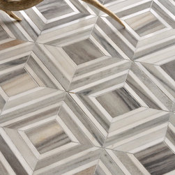 Yildiz, Talya Collection by Sara Baldwin for Marble Systems - Yildiz, a stone mosaic  shown in Palisandra veincut and Snow White, is part of the Talya Collection by Sara Baldwin for Marble Systems.