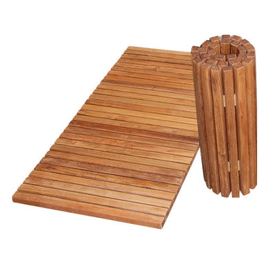 """Classic Teak - Teak Folding Shower Mat - The folding teak shower mat brings the comfort into your bathroom and pool side or can be used for door step and boat deck. It fold for easy storage. Beautiful oil-finished teak is right at home near water, and will look great for long time because it naturally resists mold, mildew, and bacteria.. More features Fold for easy storage. Teak Resist fungus for a cleaner shower/bath environment. Vented and ribbed for comfortable, slip-free footing. Lightly coated with teak oil to provide a beautiful non-slip finish. Durable, solid wood construction for years of use. Dimension 19.5""""Wide x 39"""" Long"""" Weight 16.5 lb"""