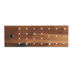 Timberly Hall Rack - How awesome is this? It's an interactive coat rack with eight pegs and numerous holes that let you decide where you want to hang your coat.