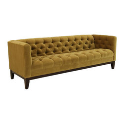 Natalie Sofa, Mustard - This sofa is good for a big space, especially one that already has some neutral colors. The color would look fantastic with a few bright accents.