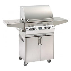 """Fire Magic - Aurora A540s1A1N62 Stand Alone NG Grill with Single Side Burner - A540 Stand Alone Grill with Single Side Burner & Infrared Burner System A540s Features: Cast stainless steel """"E"""" burners - guaranteed for life"""
