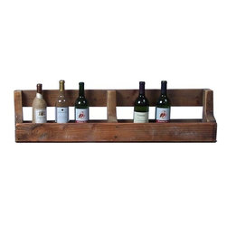 Home Decorators Collection - Horizontal Wine Wall Rack - Stylish and eco-friendly, our Horizontal Wine Wall Rack is created from recycled wood pallets. Hand-applied lacquer gives the naturally distressed wood a smooth, finished look and feel. Two storage areas can hold wine bottles or other items. Constructed of recycled oak and pine pallets. Hand-applied lacquer. Two standard hook tabs for mounting to wall. Made in the U.S.A.