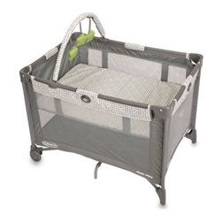 Graco - Graco Pack 'n Play Playard with Automatic Folding Feet in Pasadena - Perfect for when your little one needs a place to nap or play right away! This playpen/bassinet combo features mesh on all sides for maximum ventilation, a removable toy arch, and a durable frame that is perfectly suited for travel.