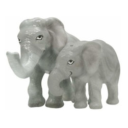 WL - 3 Inch Mother and Baby Elephant Figurines Salt and Pepper Shakers - This gorgeous 3 Inch Mother and Baby Elephant Figurines Salt and Pepper Shakers has the finest details and highest quality you will find anywhere! 3 Inch Mother and Baby Elephant Figurines Salt and Pepper Shakers is truly remarkable.