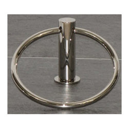 "Top Knobs - Hopewell Bath Ring - Polished Nickel - Length - 1 1/2"",Projection - 3 5/8"",Ring / Hook Diameter - 5 1/4"",Base Diameter - 1 1/2"" w (x) 1 1/2"" h,"