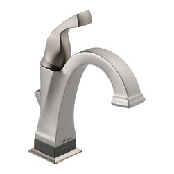 Delta - Delta 551T-SS-DST Dryden Stainless Steel Single Handle Centerset Lavatory Faucet - Delta 551T-SS-DST Dryden Stainless Steel Single Handle Centerset Lavatory Faucet. Featuring geometric lines reminiscent of the Art Deco Period of the Roaring Twenties, Delta's Dryden Collection offers a clean and unique look still popular today. The  focal point of this centerset bathroom sink faucet is Delta's groundbreaking Touch-2-O.xt Technology, giving you the ability to turn this faucet on or off using the traditional single handle, or by a mere touch and now you can even set this faucet to turn off and on simply by being close enough. The Delta 551T-CZ-DST is ADA compliant and also features Delta's revolutionary Diamond Seal Technology which makes the valve virtually leak-free and extraordinarily durable through the use of an internal contact surface made up of tiny diamonds. This Champagne Bronze Lavatory Faucet is part of the Dryden collection, which offers a full complement of coordinating products to create the perfect look.
