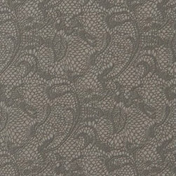BN Wallcoverings - Black Leaves Textile Wallpaper - Double Roll - Leave Black Textile Wallpaper is unpasted and has 6. 3 inches pattern repeat. Collection name: Tintoretto Size of each double roll is 21 inches x 33 feet. Each double roll covers about 57. 75 square feet / 5. 36 square meters. Made in Europe.