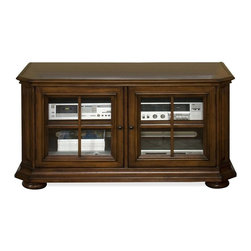 Riverside Furniture - Cantata 51 in. TV Console in Burnished Cherry - With a traditional appeal and superb craftsmanship, our Cantata theater collection adds style and comfort to your entertainment possibilities.