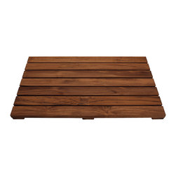Conair - Acacia Wood Non Slip Bath Mat - This mat provides a uniquely different feel with a brown slatted wood construction. The slatted, skid proof bath mat is made of water resistant Acacia wood.