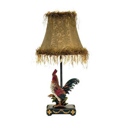 Dimond Lighting - Dimond Lighting 7-208 Petite Rooster Ainsworth Table Lamp - Dimond Lighting 7-208 Petite Rooster Ainsworth Table Lamp