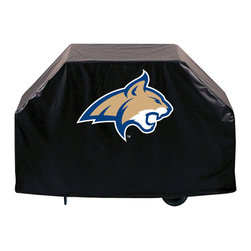 "Holland Bar Stool - Holland Bar Stool GC-MontSt Montana State Grill Cover - GC-MontSt Montana State Grill Cover belongs to College Collection by Holland Bar Stool This Montana State grill cover by HBS is hand-made in the USA; using the finest commercial grade vinyl and utilizing a step-by-step screen print process to give you the most detailed logo possible. UV resistant inks are used to ensure exeptional durablilty to direct sun exposure. This product is Officially Licensed, so you can show your pride while protecting your grill from the elements of nature. Keep your grill protected and support your team with the help of Covers by HBS!"" Grill Cover (1)"