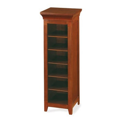 """Exposures - Haley Short Storage Tower - Overview Organize your space in style. Our solid wood Haley Storage Collection meets all of your storage needs, allowing you  to organize all your existing Exposures storage items and more.The  Short Shoebox Tower  accommodates six Shoebox Photo File Boxes, and comes in three finishes to match your existing decor. Features Accommodates 6 Shoebox Photo Files Crafted from solid wood and wood veneer  Available in your choice of White, Walnut, or Espresso   Specifications Haley Short Tower measures 42""""H x 14-1/2""""W x 13-1/2""""D  Shipping  This piece incurs an additional $50 shipping surcharge No Express Shipping"""