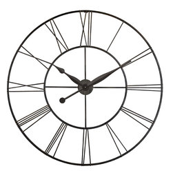 """Infinity Instruments, Ltd. - Skyscraper XXL - Infinity Instruments Skyscraper XXL 45"""" large wall clock is perfect for that large space on your wall that you need something stylish and functional to hang on.  A perfect design that will work with both traditional and / or contemporary décor."""