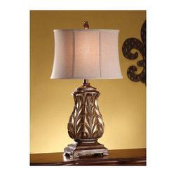 Crestview Collection - Crestview Collection CVAUP254 Regency Gold Table Lamp - Crestview Collection CVAUP254 Regency Gold Table Lamp