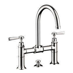 Hansgrohe - Hansgrohe Axor Montreux Lavatory Bridge Faucet with Lever Handles (16511001) - Hansgrohe 16511001 Axor Montreux Lavatory Bridge Faucet with Lever Handles, Chrome