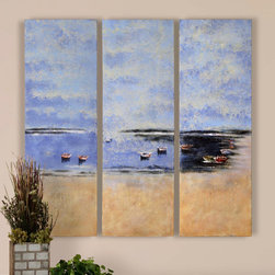 "32186 Coastal Panel I, II, III, Set/3 by Uttermost - Get 10% discount on your first order. Coupon code: ""houzz"". Order today."