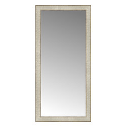 """Posters 2 Prints, LLC - 18"""" x 37"""" Libretto Antique Silver Custom Framed Mirror - 18"""" x 37"""" Custom Framed Mirror made by Posters 2 Prints. Standard glass with unrivaled selection of crafted mirror frames.  Protected with category II safety backing to keep glass fragments together should the mirror be accidentally broken.  Safe arrival guaranteed.  Made in the United States of America"""