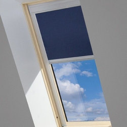 Fakro - Roller Blinds SRF-MX 051 32x55 NAVY BLUE - Gradual reduction of incoming light up to complete blackout.