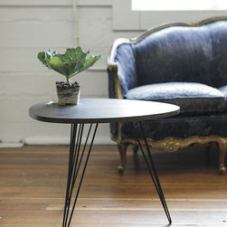 Regent Bedside Table - Between the tear-shaped top and the hairpin legs, this one might be my favorite of the collection. It doesn't provide storage, but sometimes when a table is this good looking, that's OK.
