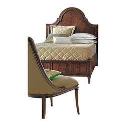 "Stanley Furniture - Avalon Heights Murray Hill Panel Storage Bed - Chelsea Finish - 5/0 Queen - Building on the beauty of the Murray Hill Panel Storage Bed's anigre fiddle woodwork, the design ups the ante with a surprise functional element. Two solid cedar drawers with touch latch drawer guides provide an additional storage option. Deep cove molding frames the headboard and highlights the good looks of Avalon Heights' welcoming cherry finish, Chelsea. Offering just a final hint of adornment are the striking curves of the headboard, while a lower footboard gives the bed a sense of spaciousness. Bottom of side rail to floor: 6"" H Bed assembly will be required with either curbside or inside delivery. Made to order in America."