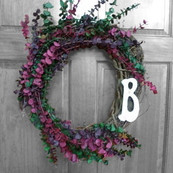 Hand Made Wreaths - The smell of dried eucalyptus - I love it, and it lasts for years!