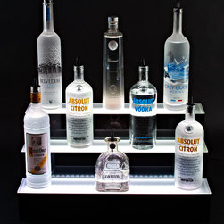 "12"" x 13"" 3 Step Acrylic Bottle Display - Crystal Ice - 12"" x 13"" 3 Step Acrylic Bottle Display - Crystal Ice from Armana Productions."