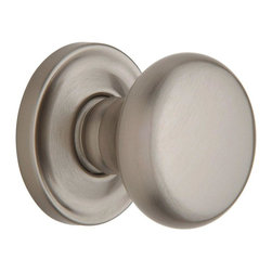 Baldwin Hardware - Estate Classic Passage Knob in Satin Nickel (5015 150 PASS 2-3/8 SET) - The Estate line offers the ultimate flexibility in creating your own custom look. Not only can you mix knobs, levers, and roses to create a custom lockset that's a true fit to your design vision, you can also mix knob and lever styles on each side of the