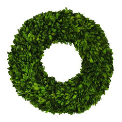 "Napa Home & Garden - Boxwood 16"" Wreath - Preserved Boxwood 16"" Wreath By Napa Home & Garden - Napa Home & Garden is a wholesale manufacturer of distinctive home & garden decorative accessories."