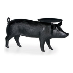 Pig Table from Moooi - This table is completely ridiculous silly and that's what makes it fabulous. I remember when it first came out it got MAD press, and its appeal has not waned. I would love to have this charming pig balancing my martini on his head for many years to come.