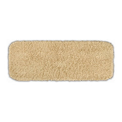 None - Quincy Super Shaggy Sand Washable Bath Runner - Jazz up the bathroom,shower room,or spa with a bright note of color while adding comfort you can sink your toes into with the Quincy Super Shaggy bathroom collection. The tan rug is created from soft,durable,machine-washable nylon.