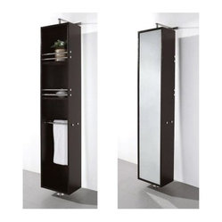 Wyndham Collection April Rotating Wall Cabinet - Espresso