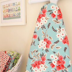 Ironing Board Cover, Aqua bouquet by City Chic Country Mouse - I love the vintage fabric and beautiful color combination on this floral ironing board cover. It's perfect for my laundry room.