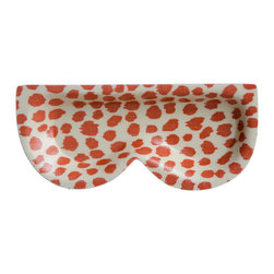Michael Devine Ltd. - Dottie Eyeglass Tray, Coral - A must have item, the eyeglass tray is a great way to keep eyeglasses in place. Beautiful hand silk screened Michael Devine fabric is skillfully laminated to create each delightful and useful piece.