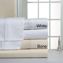 Pointehaven - Pointehaven 1000 Thread Count Pima Cotton Sateen Sheet Set - Give your bed a stylish makeover and ensure a good night's sleep with this luxurious cotton sheet set. Because they're made from 100 percent cotton and have an extremely high thread count,these sheets are incredibly soft and comfortable.