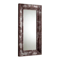 Cyan Design - Cyan Design Mercury Mirror - From the Mercury Collection, this Cyan Design mirror features a classic rectangular frame with industrial detailing. The corners are complimented by rivet accents and the body features traditional beveled detailing around the edges. This industrial mirror is completed with a Rustic finish.