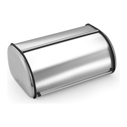 Cook N Home - Cook N Home Stainless Steel Bread Box, 17-inch by 11-inch - Cook N Home Stainless Steel Breadbox is made of brushed stainless steel, looking stylish in your kitchen counter and size is large 17-inch by 11-inch by 7-inch, roll-top lid design, for easy storage and access, keep your bake food fresh.