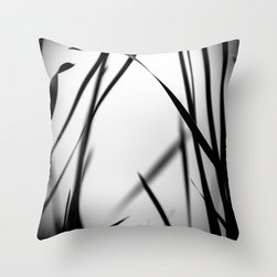 Products for the Modern Home - My original nature abstract fine art photograph on a throw pillow cover. Beautiful grays and blacks work well with modern decor.