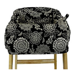 The Peanut Shell - The Peanut Shell High Chair and Shopping Cart Cover in Tea Time - This versatile shopping cart cover doubles as a high chair cover to provide a safe and clean environment for baby at the market or dining-out. The cover is lightly quilted for comfort and made of 97% cotton and 3% spandex, so you know it's cozy soft.