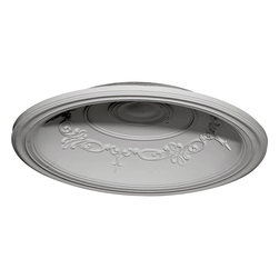 "Ekena Millwork - Chesterfield Recessed Mount Ceiling Dome (29 1/2""Diameter x 6 5/8""D) - 35""OD x 27 7/8""ID x 5 5/8""D Chesterfield Recessed Mount Ceiling Dome (29 1/2""Diameter x 6 5/8""D Rough Opening). Urethane ceiling domes enhance interiors with rich texture and traditional appeal. Many of our urethane ceiling domes include classic decorative details, ranging from floral motifs to crisp moulding. Whether you seek something subtle or ornate, we have a urethane ceiling dome for you. Each ceiling dome is factory primed and ready for your paint or faux finish. Each dome is manufactured out of a high density urethane foam, which is great for durability, but is also lighter than other materials to make installation a snap. Enhance your room with a beautiful ceiling dome focal piece."