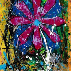 """Abstract Flor"" Artwork - From the abstract flower series. this is an original one of a kind work."