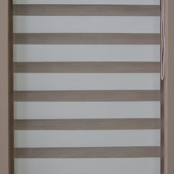 """CustomWindowDecor - 48"""" L, Basic Dual Shades, White, Fabric Sample - Please note, this is just a sample fabrics for your shade color reference ."""