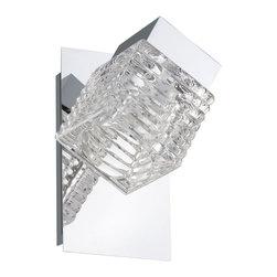 EGLO - Eglo 92662 Chrome Led 1X5W Wall/Ceiling Light, Clear Glass - EGLO 92662 Chrome LED 1x5W Wall/Ceiling Light, Clear Glass