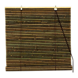 Oriental Unlimited - Burnt Bamboo Roll Up Blinds in Natural & Brow - Choose Size: 72 in. WideBurnt bamboo roll up blinds are a versatile addition to any window. They will fit in with any decor. Easy to hang and operate. 24 in. W x 72 in. H. 36 in. W x 72 in. H. 48 in. W x 72 in. H. 60 in. W x 72 in. H. 72 in. W x 72 in. H