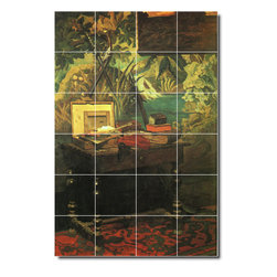 Picture-Tiles, LLC - A Corner Of The Studio Tile Mural By Claude Monet - * MURAL SIZE: 36x24 inch tile mural using (24) 6x6 ceramic tiles-satin finish.